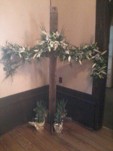 Easter garland on display