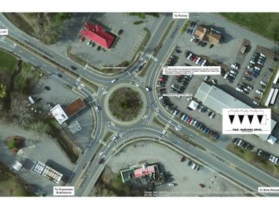 Plan for Brattleboro Roundabout Markings