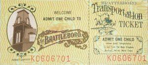 Brattleboro Admission Ticket