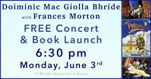 Free Irish Music Concert and Book Launch: Doiminic Mac
