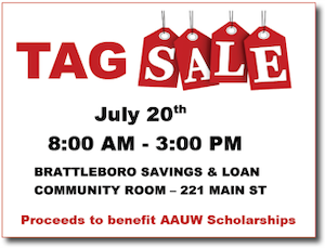 AAUW Tag Sale