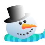 snow person head