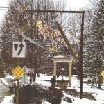 ski jump statue